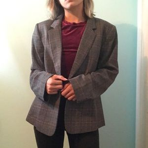 NWT Chelsea Rose Plaid Blazer
